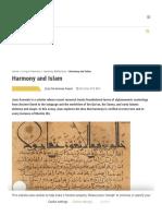 Harmony and Islam - The Harmony Project