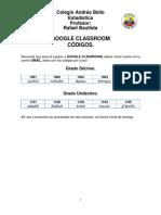 Google Classroom Códigos 1