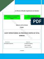 Audit Operationnel Du Processus Ventes de Total