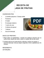RECEITA SALADA DE FRUTAS