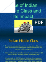 Current Rise of Indian Middle Class and Its Impact