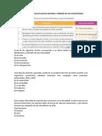 EVALUACIÓN UNIDAD III FLUJO DE MATERIA Y ENERGÍA EN LOS ECOSISTEMAS