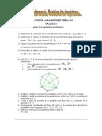 Tarea Circunferencia y Parabola