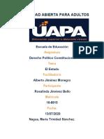 TAREA II DERECHO POLITICO Y CONSTITUCIONAL ROSALINDA JIMENEZ....