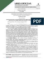 Orden general 2.780, de 14 julio 2020, de Dirección General de Carabineros de Chile, sobre protocolos para el mantenimiento del orden público