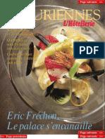 Les Épicuriennes (supplément 2002-01) • Éric Fréchon, le palace s'encanaille (cooking & tableware, recipes)