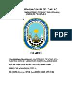 Silabo seguridad y defensa 2020-A