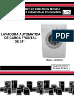 L-75 Lavadora Carga Frontal 24 pulg (Español)