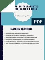 4. Week 4 - Developing Therapeutic Communication Skills.pptx