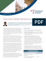 Analysys Mason India VAS Programme Datasheet