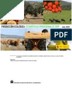 PRODUCCIÓN ECOLÓGICA ESTADÍSTICAS PROVISIONALES 2019