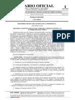 Ley N° 21.238, Reforma constitucional para limitar la reelección de las autoridades que indica, en DO. 8 julio 2020.