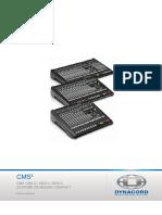 DYNACORD manuel utilisateur consoles de mixage modèles CMS