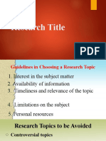 6. Research Title