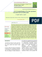 A Comparative Study of E-Learning Readiness of Two State Agricultural