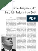 »Historisches Ereignis« – NPD beschließt Fusion mit der DVU