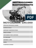 Manual MOTOAZADA ZM1000