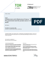 Infrastructure and infrastructure finance