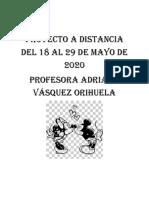 Proyecto 4 a distancia del 18 al 29 de mayo de 2020