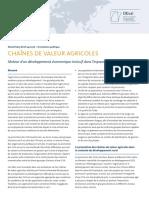 CHAÎNES DE VALEUR AGRICOLES
