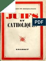 Heekelingen Herman_Juifs Et Catholiques (1939)