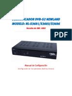 DECODIFICADOR DVB- S2 Newland MODELO NL-S3601-S3603-S3606 _SW1002