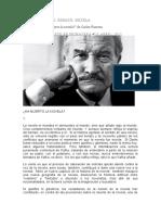 Ha muerto la novela Carlos Fuentes