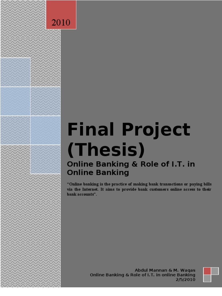 Dissertation report internet banking