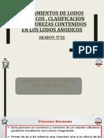 SESION N°21 - TRATAMIENTOS DE LODOS ANODICOS , CLASIFICACION DE IMPUREZAS CONTENIDOS EN LOS LODOS ANODICOS