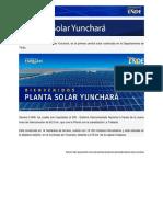 Planta Solar Fotovoltaica de Yunchará