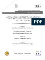 MANUAL DE PROCEDIMIENTOS DE ATENCIÓN CFE