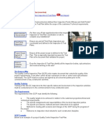 QC Inspection and Test Plan
