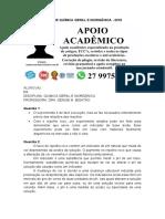 Mapa de Química Geral e Inorgânica.doc