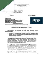 MANIFESTATION COMPLIANCE INTRAMUROS