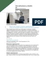 Diferencia entre estructura y diseño organizacional