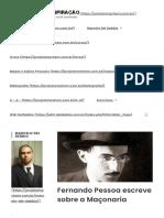 Fernando Pessoa escreve sobre a Maçonaria – Projeto Mayhem