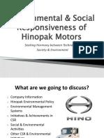 Environmental & Social Responsiveness of Hinopak Motors