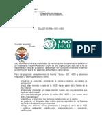 TALLER NORMA ISO 14001