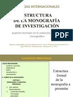 Estructura de una monografía de investigación