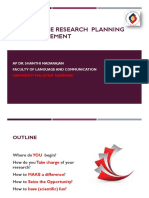 Research Planning & Management
