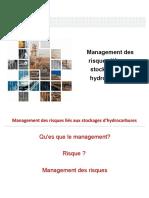 Management Des Risques Liés Aux Stockages Des Hydrocarbures Finale