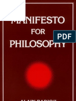 (1992, 1999) Manifesto for Philosophy