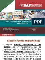 EVALUACION DE LA CAUSALIDAD DE LAS RAMS A MEDICAMENTOS