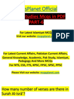 Islamic Studies MCQs in PDF Part-6.pdf