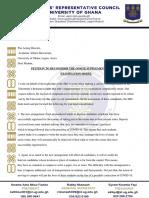Src Petition to University Management PDF