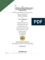 fyp-MultiComponent Distillation