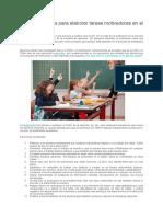 TDAH Principios para elaborar tareas motivadoras en el aula