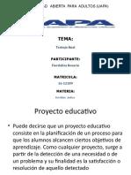 Proyecto educativo exposicion