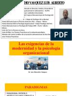 EXIGENCIAS DE LA MODERNIDAD Y LA PS. ORG. (1)