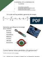 2 ECUACION GENERAL DE LA ENERGIA EN FLUIDOS